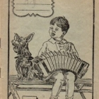 Μικρό τετράδιο με παιδάκι που παίζει ακορντεόν